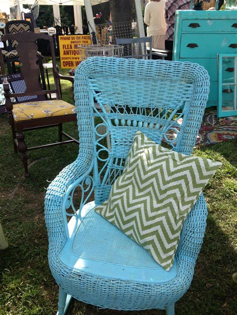 Blue Wicker Furniture by Blue Wicker Rocking Chair Blue Chair
