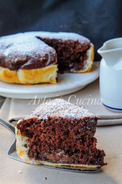 arte in cucina torta con guscio di sfoglia al cioccolato e nutella arte