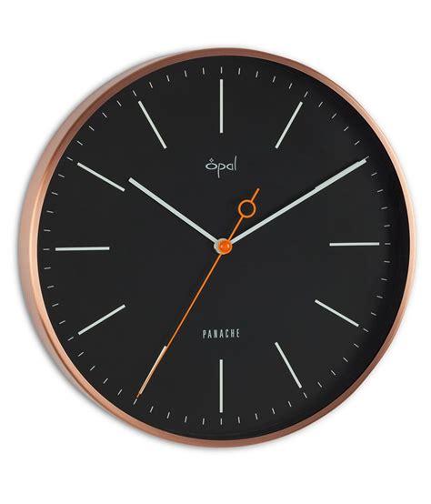 designer clocks opal designer wall clock black buy opal designer wall