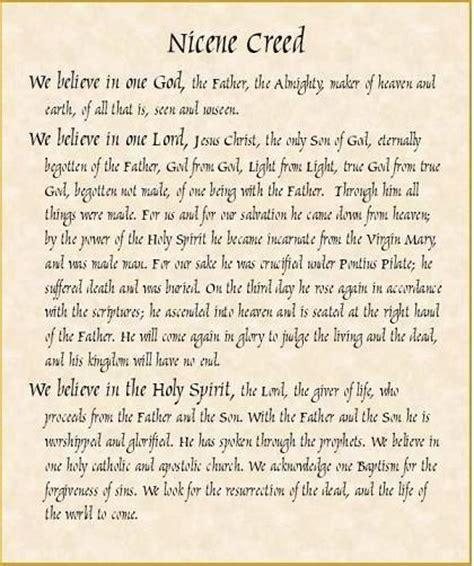 lutheran prayer nicene creed the essential beliefs of catholics