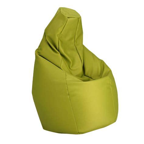poltrona zanotta zanotta poltrona anatomica sacco verde ecopelle vip