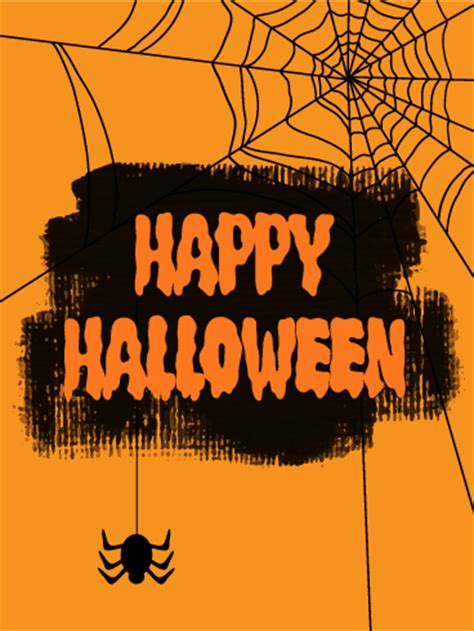 creepy happy halloween card birthday greeting cards  davia