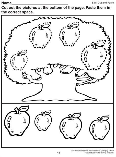 free printable preschool cut and paste worksheets ideas about free printable kindergarten cut and paste