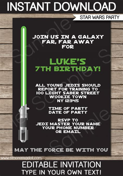 printable invitations star wars free star wars invitation download orderecigsjuice info
