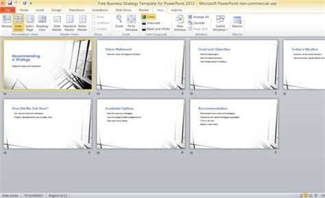 Free Business Strategy Template For PowerPoint 2013