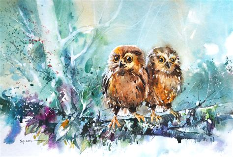 baby painting free baby owls by abstractmusiq on deviantart