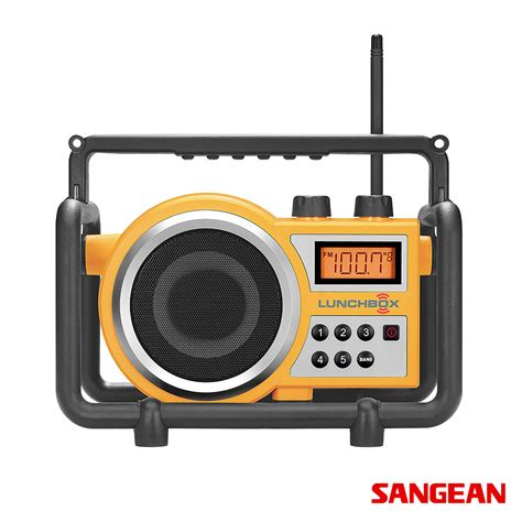 rugged fm radio lunchbox compact fm am ultra rugged radio receiver sangean metropolitandecor