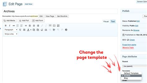 archive page template how to create a custom archive page template in