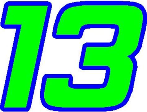 Height Chart Wall Stickers nascar decals 13 race number 2 color hemi head font