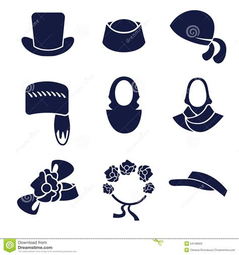 different types of women s hats and headdresses stock