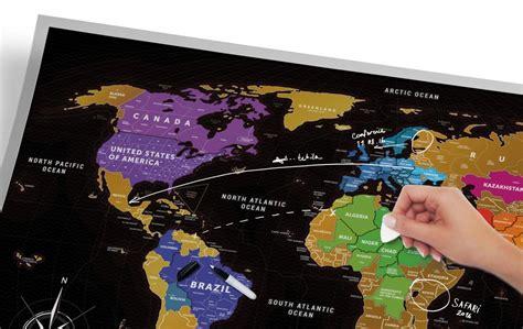 scratch map travel map 174 black buy world scratch map black in 1dea me