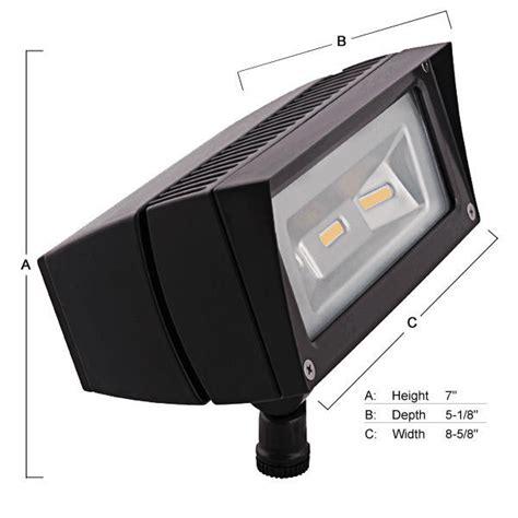 277 volt led flood lights rab ffled18 pc 18 watt led flood light with photocell