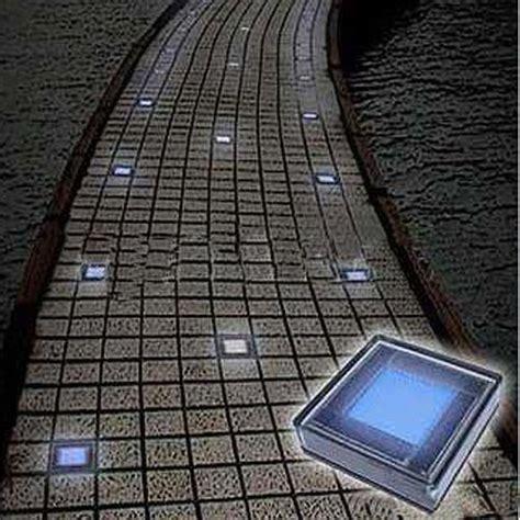 outdoor solar white brick garden lights   leds