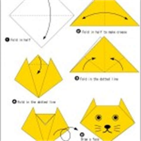 Simple Paper Folding For Kindergarten - easy animal origami for crafts and worksheets for