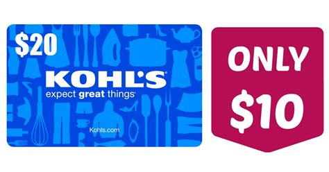 Check Kohl S Gift Card - groupon 10 for a 20 kohl s egift card