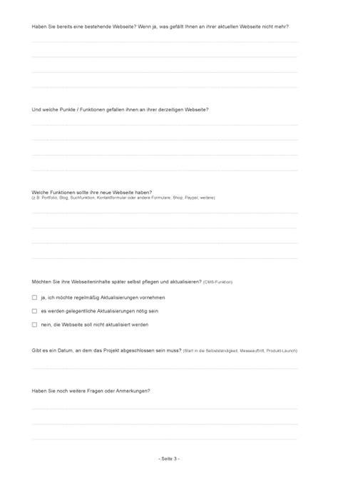 projekt fragebogen f 252 r webdesigner zum downloaden elmastudio