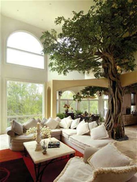 Living Room With Tree A Tree Inside Your Home By Naturemaker Freshome