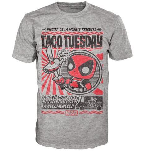 T Shirt Chimicnanga marvel deadpool chimichanga pop t shirt grey