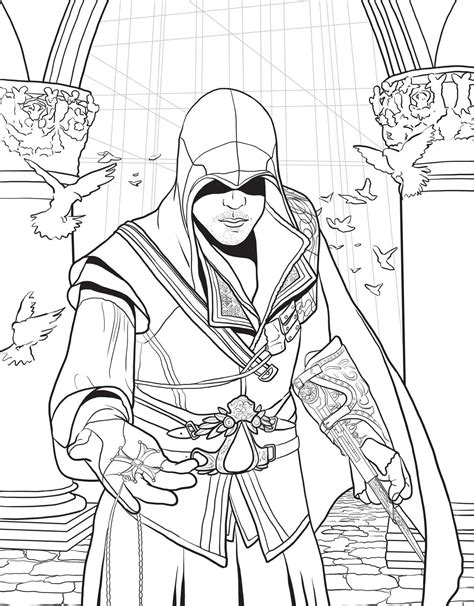 assassins creed colouring book assassin s creed the official colouring book paperback insight editions popcultcha