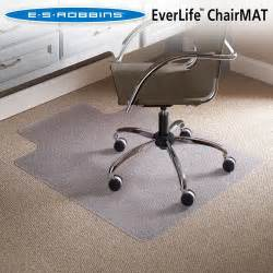 Office Chair Mat For High Pile Carpet Es Robbins Chair Mat For Flat Low Pile Carpet 36 X 48 W
