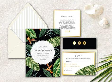 Tropical Wedding Invitations by Modern Wedding Invitation Tropical Wedding Invitation