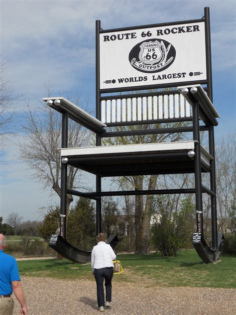 Worlds Largest Rocking Chair by Route 66 Day Four Poverty In Missouri Paul Hogarth