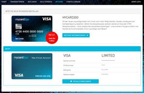 bw bank prepaid kreditkarte mycard2go visa prepaid kreditkarte wirecard