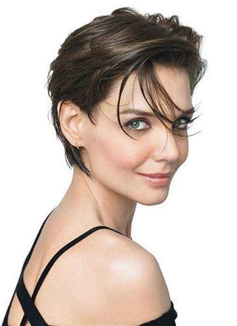 Katie Holmes Short Pixie Haircut | 15 best katie holmes pixie cuts short hairstyles