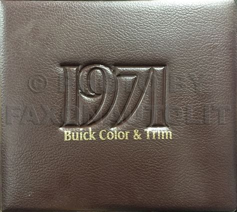 1971 buick color upholstery album book original