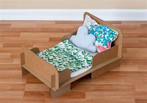 diy doll bed diy toy cardboard doll bed children s craft ideas