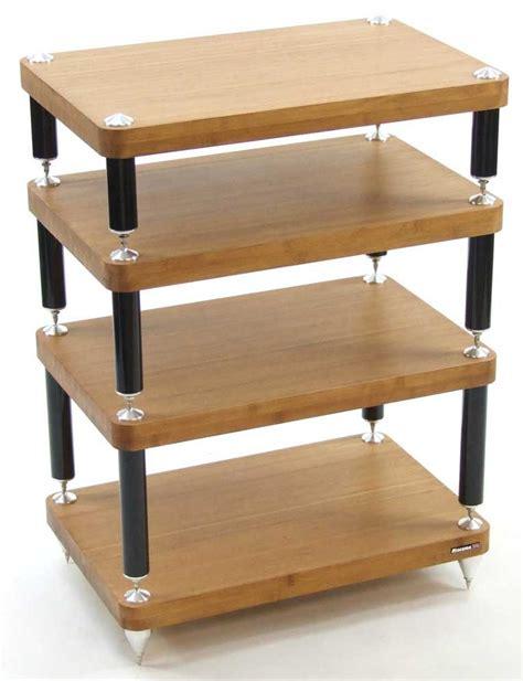 Eco Stand atacama evoque eco medium bamboo hifi stand 4 tier