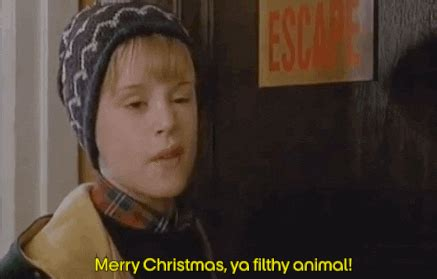 merry christmas ya filthy animal gifs find share  giphy