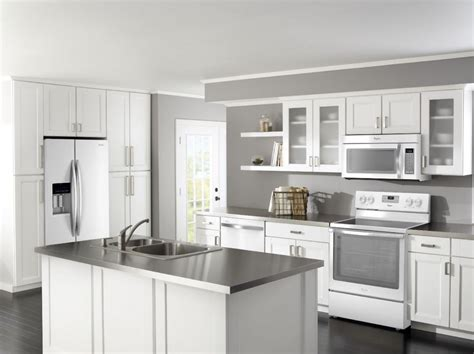 Pictures Of White Kitchens With Stainless Steel Appliances White Kitchen Cabinets With Stainless Steel Appliances