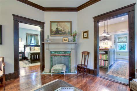 atlanta bungalow renovation craftsman living room