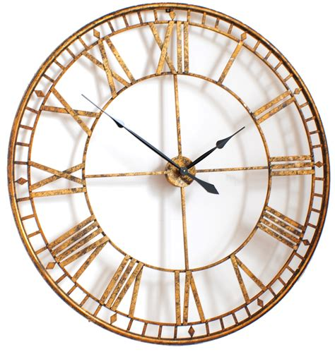 big wall clocks extra large gold wall clock decofurnish