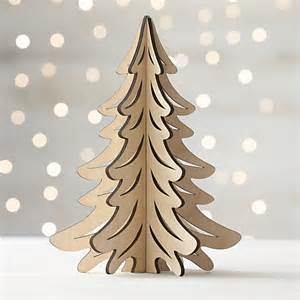 German Table Linens - laser cut wood natural tree in home accents crate and barrel