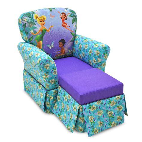 blue floral chair and ottoman disney fairies floral blue purple rocker and ottoman set