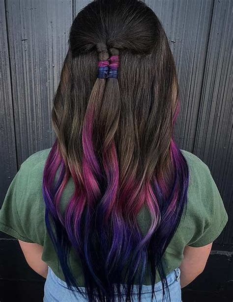 20 purple ombre hair color ideas thick hairstyles purple ombre hair color www pixshark com images
