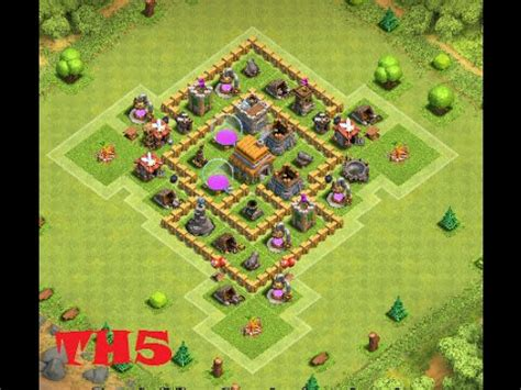 layout coc town hall 5 clash of clans best town hall 5 defense coc th5 www