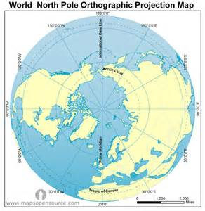 Map Of The World North Pole by Free World North Pole Stereographic Projection Map North