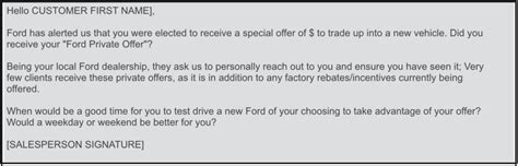 Ford Dealers Don T Discount The Ford Private Offer Discount Offer Email Template