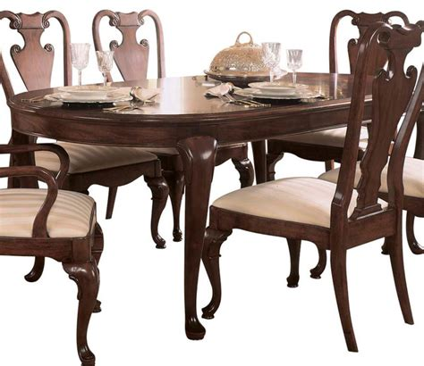 American Dining Table American Drew Cherry Grove Oval Leg Dining Table In Antique Cherry Traditional Dining Tables