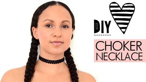 diy choker kette einfach selbst machen tattoo necklace