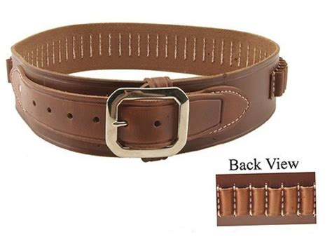 oklahoma leather deluxe cartridge belt 38 cal leather