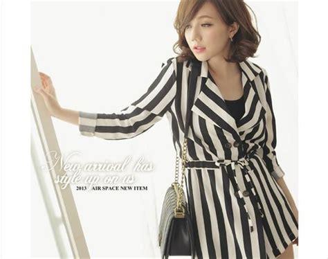 Jaket Fleece Hitam Putih blazer wanita korea hitam putih http www eveshopashop blazer wanita garis garis hitam