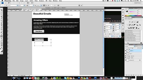 design html email in photoshop how to create a html email template 1 of 3 youtube