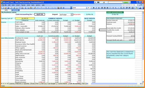 business expense excel template small business spreadsheet for income and expenses