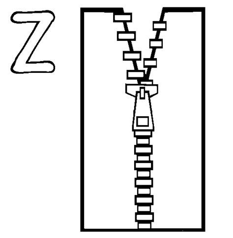 Coloring Page Zipper by Z Zip House