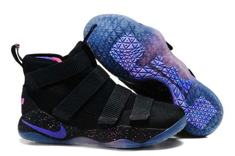 pink and purple basketball shoes cheap nike lebron soldier 11 black purple pink basketball