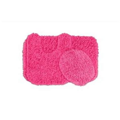 pink bathroom rug garland rug jazz pink 21 in x 34 in washable bathroom 3 rug set ben 3pc 11 the home depot